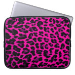 Hot Pink Leopard Print Laptop Sleeve