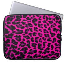 Hot Pink Leopard Print Laptop Sleeve