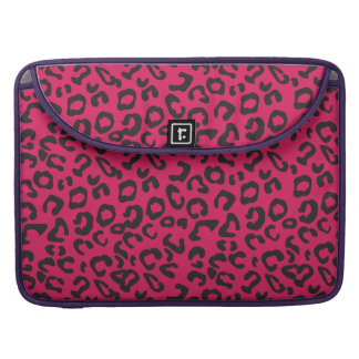 Hot Pink Leopard Print Macbook 15in Sleeve
