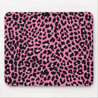 Hot Pink Leopard Print Mouse Pad