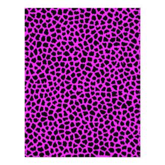 Hot Pink Leopard Print Personalized Letterhead