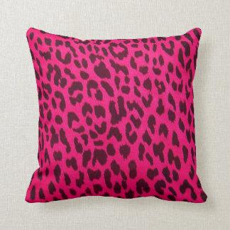 Hot Pink Leopard Print Pillow