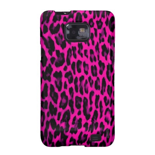 Hot Pink Leopard Print Samsung Galaxy S2 Cover