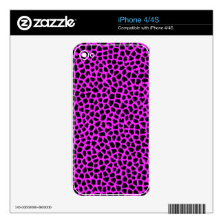 Hot Pink Leopard Print iPhone 4 Decals