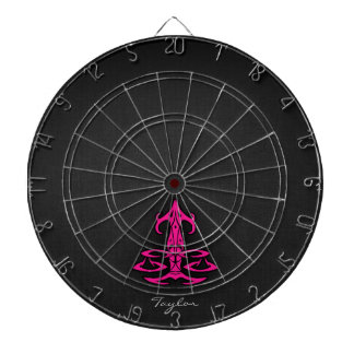Hot Pink Libra Scales Zodiac Sign Dartboard With Darts