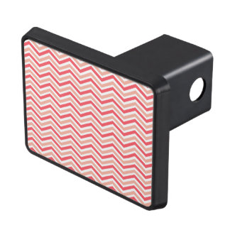 Hot Pink, Light Pink, White, Chevron Stripes Tow Hitch Covers