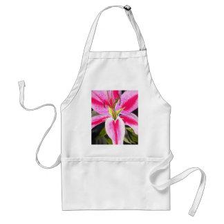 Hot Pink Lily Tenerife pop art watercolor flower Adult Apron