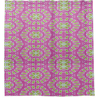 pink and green shower curtains zazzle. Black Bedroom Furniture Sets. Home Design Ideas