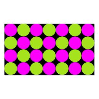 Hot Pink & Lime Green Polka Dots Business Card