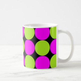 Hot Pink & Lime Green Polka Dots Coffee Mug