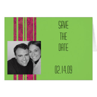 Hot Pink & Lime Save the Date Card