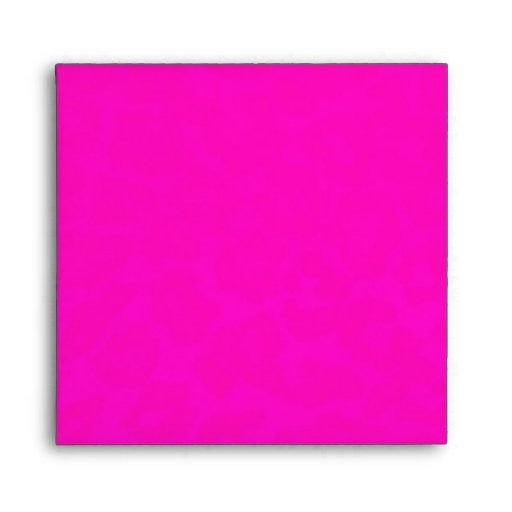 Hot Pink Lined with Black and White Stripes Square Envelope