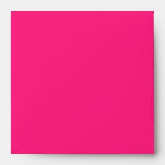 Hot Pink Linen Envelopes