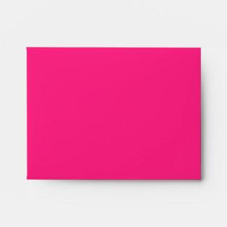 Hot Pink Linen RSVP Envelopes