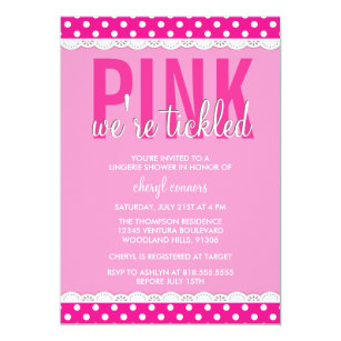 Hot Pink Shower Invitation