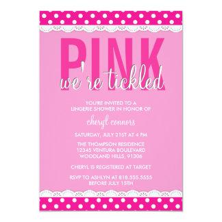 Hot Pink Lingerie Shower Invitation