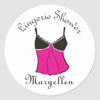 Hot Pink Lingerie Stickers