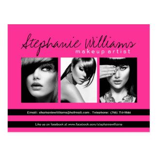 Hot Pink Lipstick Smooch Makeup Artistry Comp Card