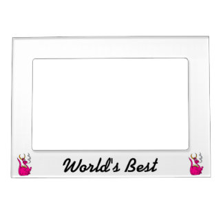 Hot Pink Little Dragon Cute.png Magnetic Photo Frame