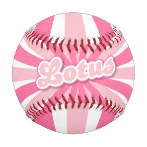 Hot Pink Lotus Baseball