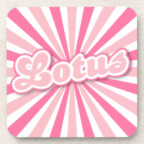 Hot Pink Lotus Beverage Coaster