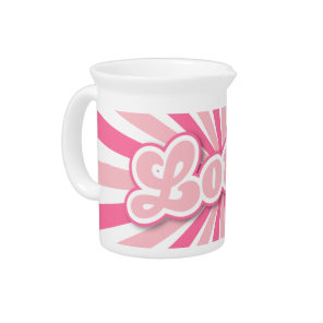 Hot Pink Lotus Drink Pitcher