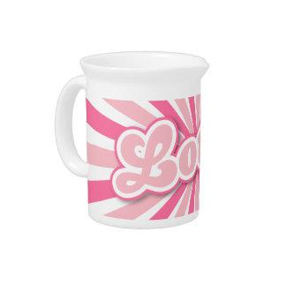 Hot Pink Lotus Drink Pitchers