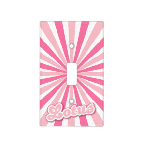 Hot Pink Lotus Light Switch Cover