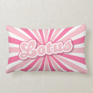 Hot Pink Lotus Lumbar Pillow
