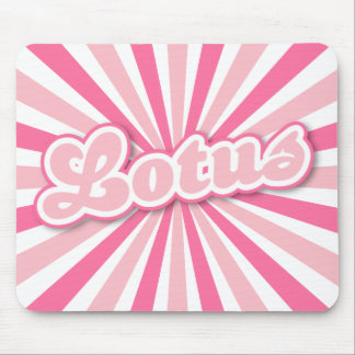 Hot Pink Lotus Mouse Pad