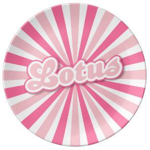 Hot Pink Lotus Plate
