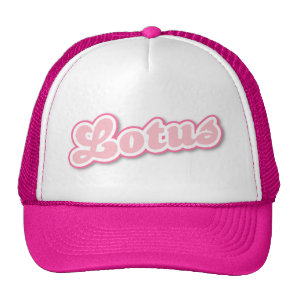 Hot Pink Lotus Trucker Hat