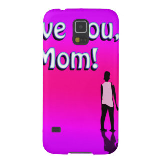 Hot Pink Love You Mom! Design Case For Galaxy S5