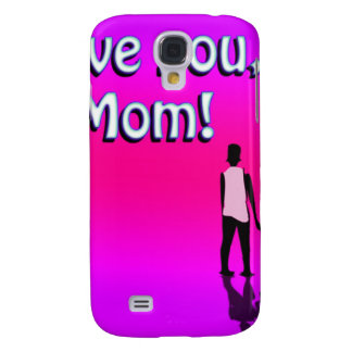 Hot Pink Love You Mom! Design Samsung Galaxy S4 Covers