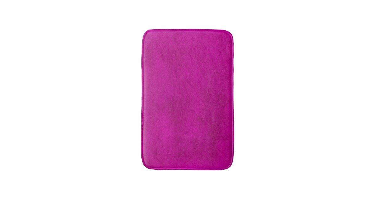Hot Pink Magenta Watercolor Wash Bath Mat | Zazzle