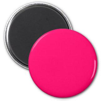Hot Pink 2 Inch Round Magnet