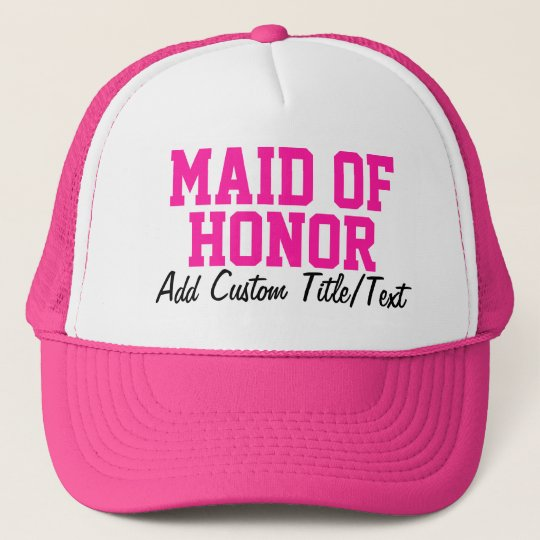Hot Pink Maid of Honor Hat  e701c1df2ad
