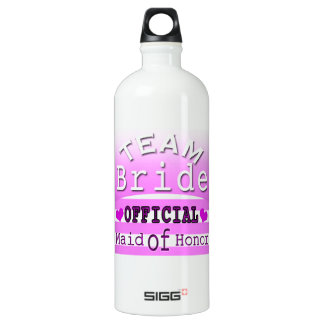 """Hot Pink """"Maid of Honor"""" Water Bottle"""