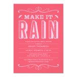 Hot Pink Make it Rain Bridal Shower Invitations