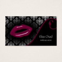 hot pink Makeup artist Business Cards