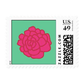 hot pink marigold postage stamps