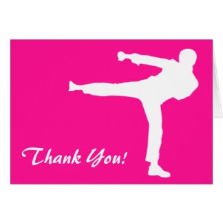 Hot Pink Martial Arts Card