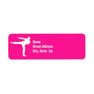 Hot Pink Martial Arts Label