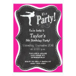 Hot Pink Martial Arts Personalized Invitation