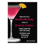 Hot Pink Martini Bachelorette Party Announcement