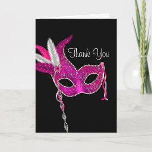 masquerade thank you cards zazzle