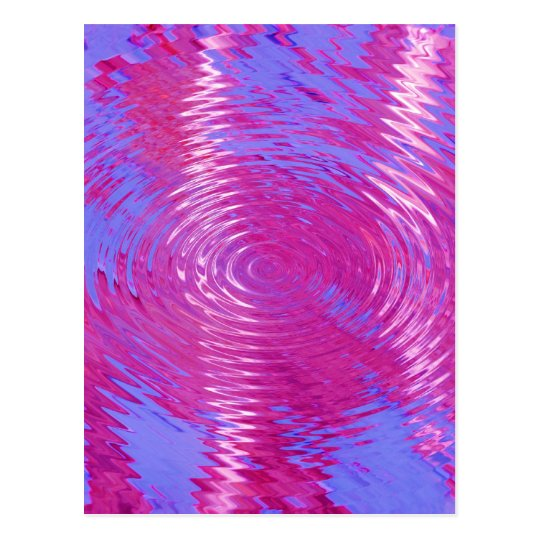 HOT PINK MELTED WATER DRIPS ABSTRACT RANDOM DIGITA POSTCARD