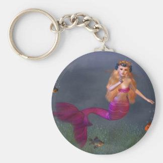 Hot Pink Mermaid Keychain