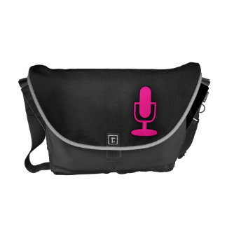 Hot Pink Microphone Courier Bag