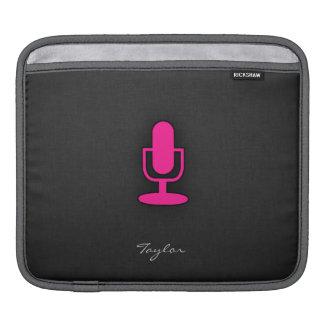 Hot Pink Microphone iPad Sleeve